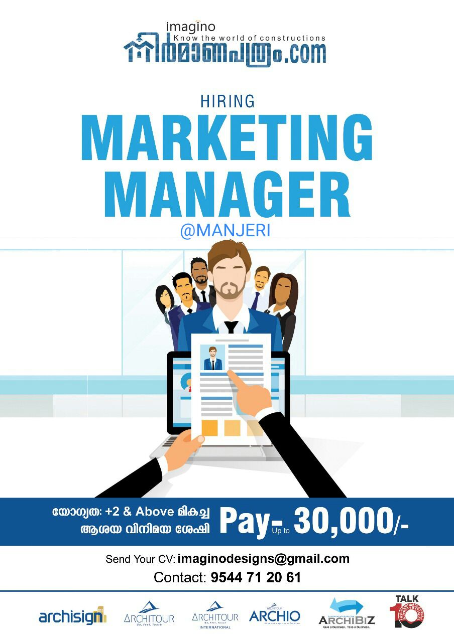 Marketing Manager Required for a company in Manjeri