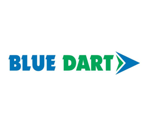 blue dart courier service areacode contact number