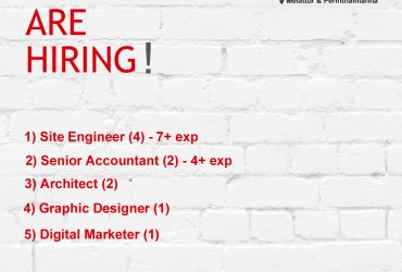 Site Engineer, Accountant, Graphic Designer Job Vacancy in Perinthalmanna